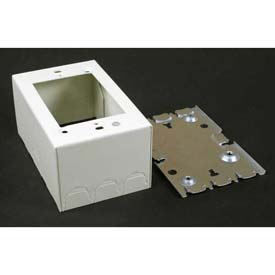 "Wiremold V5744 1-Gang Extra Deep Switch & Receptacle Box, Ivory, 4-5/8""L - Pkg Qty 10"