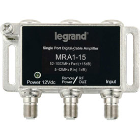 Click here to buy Legrand VM2201-V1 Single-port RF Digital Cable Amplifier.