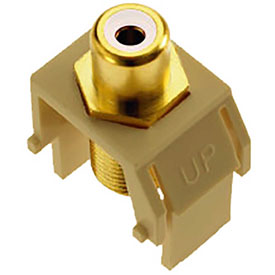 Buy Legrand WP3461-IV White RCA to F-Connector Keystone Insert, Ivory (M20) Package Count 20