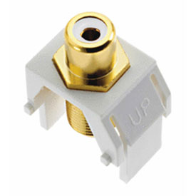 Buy Legrand WP3461-WH White RCA to F-Connector Keystone Insert, White (M20) Package Count 20