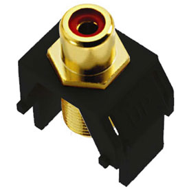 Buy Legrand WP3462-BK Red RCA to F-Connector Keystone Insert, Black (M20) Package Count 20