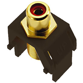 Buy Legrand WP3462-BR Red RCA to F-Connector Keystone Insert, Brown (M20) Package Count 20