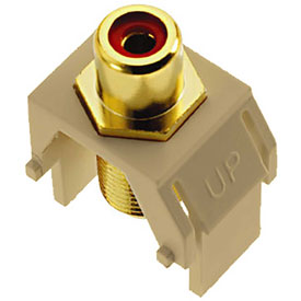 Buy Legrand WP3462-IV Red RCA to F-Connector Keystone Insert, Ivory (M20) Package Count 20