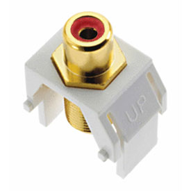 Buy Legrand WP3462-WH Red RCA to F-Connector Keystone Insert, White (M20) Package Count 20