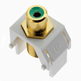 Buy Legrand WP3463-WH Green RCA to F-Connector Keystone Insert, White (M20) Package Count 20