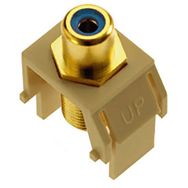 Buy Legrand WP3464-IV Blue RCA to F-Connector Keystone Insert, Ivory (M20) Package Count 20