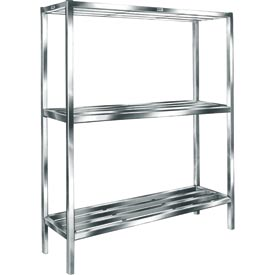 "Cooler & Backroom Shelving, E-Channel, 24"" x 48"", 3 shelves"