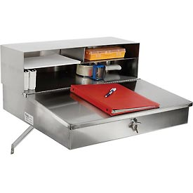 """24""""W x 22""""D Wall Mounted Receiving Desk - Stainless Steel"""