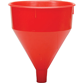 Funnel King Red Safety Polyethylene 6 Quart Funnel with 60 Micron Filter Screen 32006 by