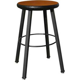 Wisconsin Bench Welded Stool  - Fixed Legs - Cherry