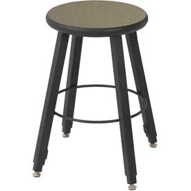 Wisconsin Bench Welded Stool - Adjustable Legs - Gray