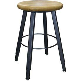 Wisconsin Bench Welded Stool - Adjustable Legs - Natural