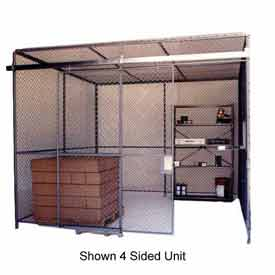 Husky Rack & Wire Preconfigured Room 3 Sided 20' W x 15' D x 10' H w/ 5' W Slide Door w/Ceiling