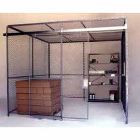 Husky Rack & Wire Preconfigured Room 4 Sided 10' W x 10' D x 10' H w/ 5' W Slide Door w/Ceiling