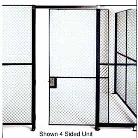 Husky Rack & Wire Full Height Single Sliding Door 6' Wide x 7' Tall