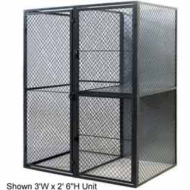 "Husky Rack & Wire Tenant Locker Double Tier Starter Unit  4' W x 5' D x 7'-6"" Tall"