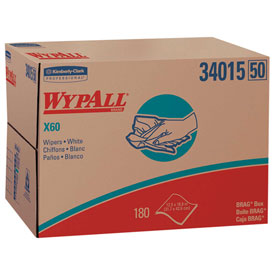 "WypAll® X60 Wipers in Brag® Box - 12-1/2""w x 16-13/16""d - KIM34015"