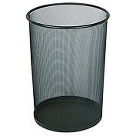 "Round Mesh Wastebasket, Black, 5 Gal., 11.5""Dia X 14""H - Pkg Qty 6"