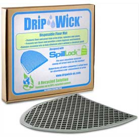 Disposable Gray Laminated Urinal Mat, DRIPG, 6 Pack
