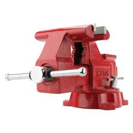 "Wilton 11128 Model 676 6-1/2"" Jaw Width 3-13/16"" Throat Depth Utility Workshop Vise W/ Swivel Base"