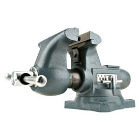 "Wilton 63201 Model 1765 6-1/2"" Jaw Width 4"" Throat DepthTradesman Vise W/ Swivel Base"