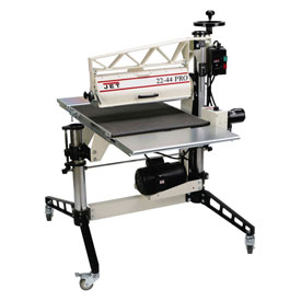"JET 649600 Model 22-44 Pro 3HP 1-Phase 22"" Drum Sander W/ DRO, Tables, & Casters by"