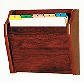 Single Tapered Pocket Chart Holder - Mahogany