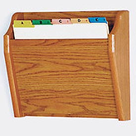 Single Tapered Pocket Chart Holder - Medium Oak
