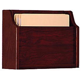 Extra Deep Single Pocket Chart Holder - Mahogany