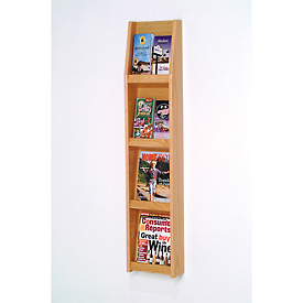 4 Magazine/8 Brochure Wall Display - Light Oak
