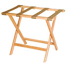 Luggage Rack w/ Straight Legs - Light Oak/Tan