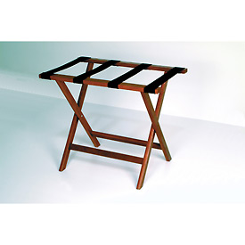 Luggage Rack w/ Straight Legs - Mahogany/Brown