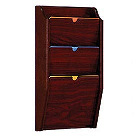 3 Pocket HIPPAA Compliant Chart Holder - Mahogany