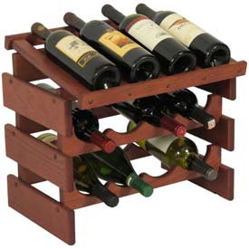 "12 Bottle Dakota™ Wine Rack with Display Top, Mahogany, 16-3/8""H"
