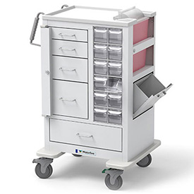 Waterloo Tall Phlebotomy | Specimen Collection Cart MTWA-34696-WHT by