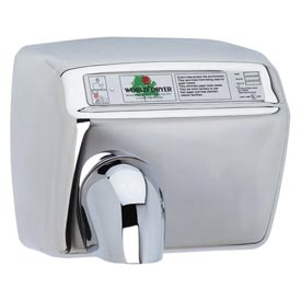 World Dryer Automatic Hand Dryer 208/230V, Bright SS DXA54-972 by