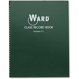 "Ward Class Record Book 67L, 11"" x 8-1/2"", White, 6-7 Weeks by"