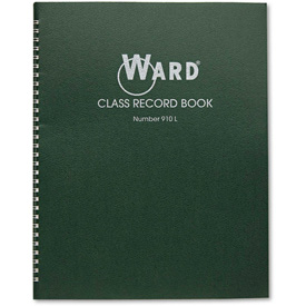 "Ward Class Record Book 910L, 11"" x 8-1/2"", White, 9-10 Weeks by"