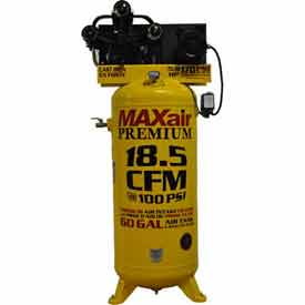 MaxAir Electric Stationary Compressor C5160V1-MAP, 5HP, 208/230V, 60 Gal, 18.5 CFM @ 100 PSI