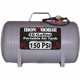 Iron Horse Portable Air Tank IHCT-10, 10 Gal, 150 PSI