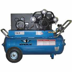Eagle Electric Portable Compressor P5125H1, 5HP, 208-230V, 25 Gal, 18.5 CFM @ 100 PSI
