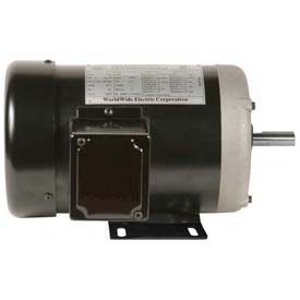Worldwide Electric Motor NAT12-18-56, GP, TEFC, Rigid, 3 PH, 56, 1/2 HP, 1800 RPM, 1 FLA
