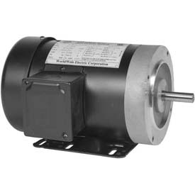 Worldwide Electric Motor NATJ34-36-56CB, GP, TEFC, REM-C, 3 PH, 56C, 3/4 HP, 3600 RPM, 1.5 FLA