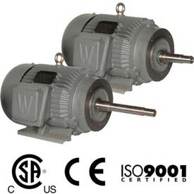 Worldwide Electric CC Pump Motor WWE1-18-143JP, TEFC, Rigid-C, 3 PH, 143JP, 1 HP, 1800 RPM