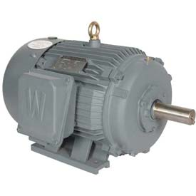 Worldwide Electric T-Frame Motor PEWWE125-18-444T, GP, TEFC, Rigid, 3 PH, 444T, 144 FLA, RB