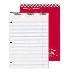 Porta-Desk 3-Subject Top Wirebound Notebook, 3-Hole Punched, 120 Sheets