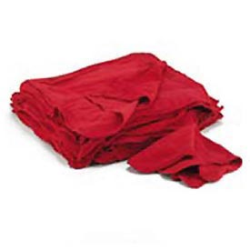 "Red Cotton Shop Towels - 14""w x 15""d - UFSN900RST"