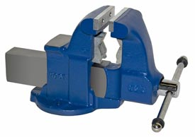"Yost 4-1/2"" Heavy Duty Combination Pipe & Bench Vise - Stationary Base"