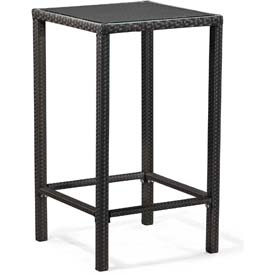 """Zuo Modern Anguilla Table, 42-11/16""""H, Synthetic Weave Top, Aluminum Frame Frame, Espresso"""