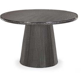 "Zuo Modern Avalon Table, 30-5/16""H, Synthetic Weave Top, Aluminum Frame Frame, Espresso"